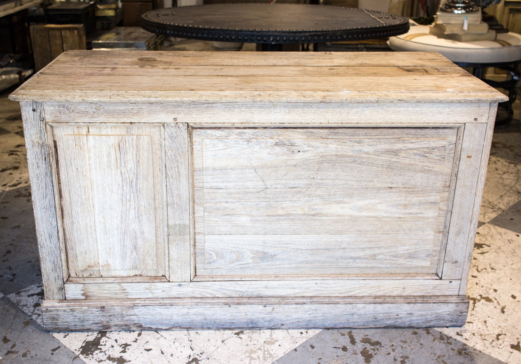19th Century Distressed Open Shelving Oak Cabinet found in France