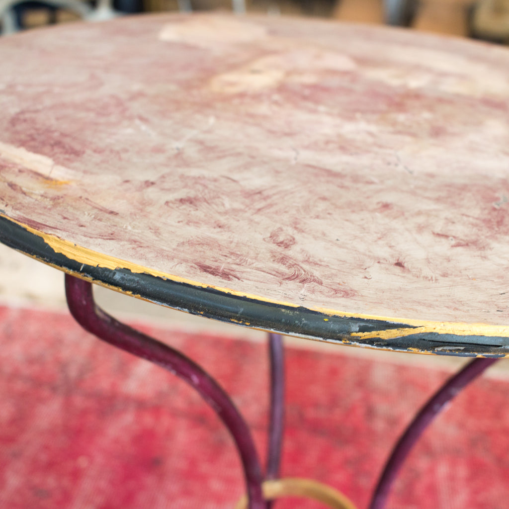1920s Painted French Metal Bistro Table