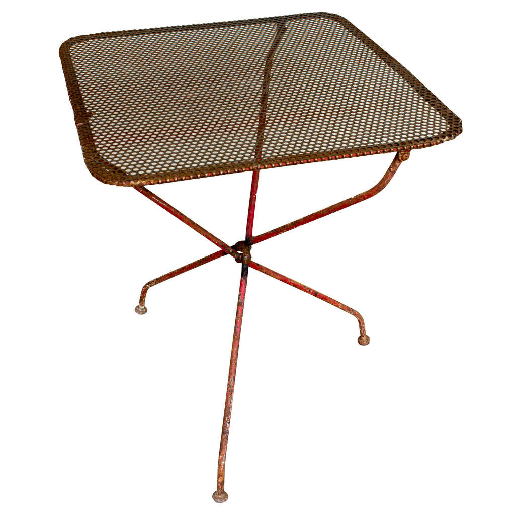 Mid-Century Iron Folding Garden Table found in France