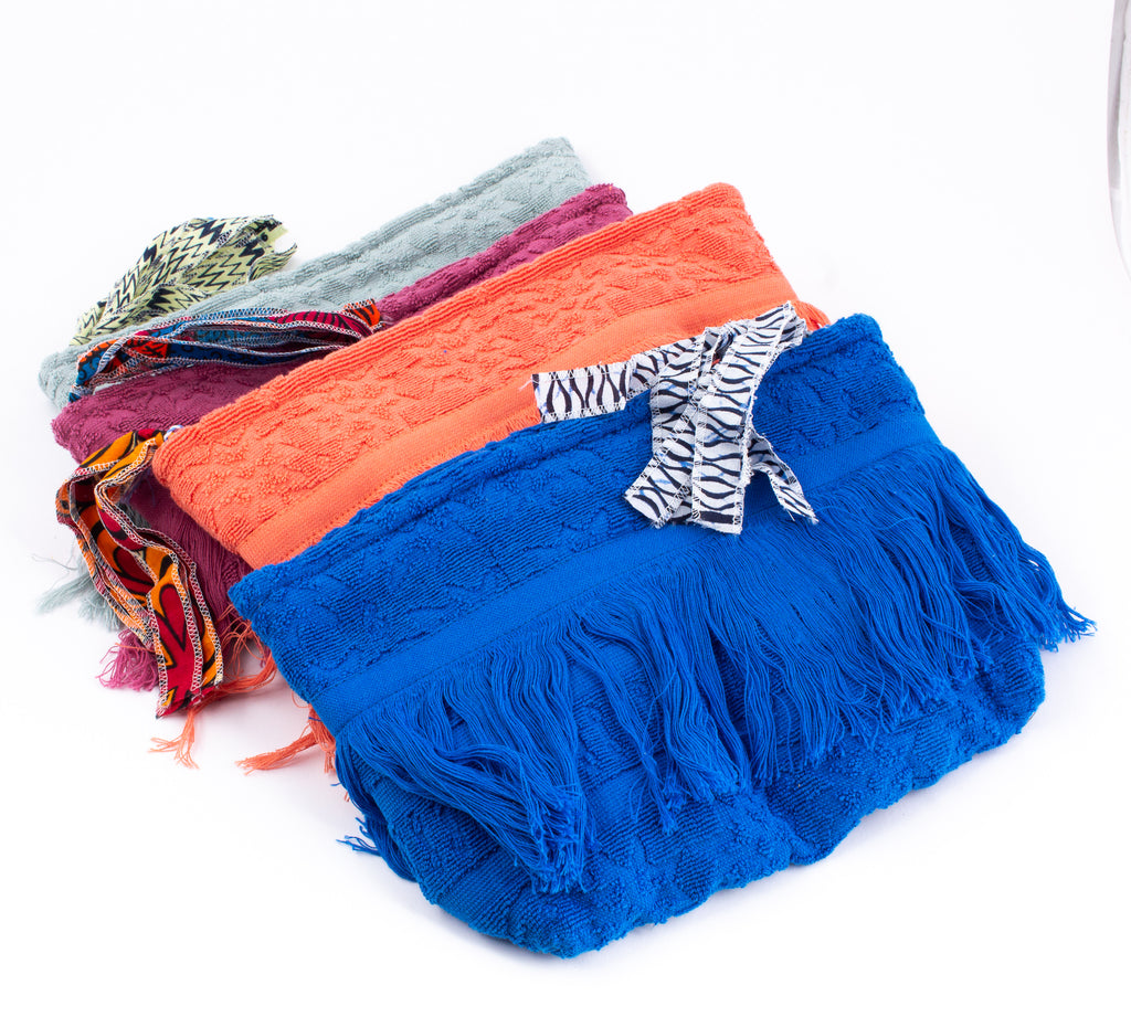 Lalla Hammam Fringe Towel Clutch from Marrakech