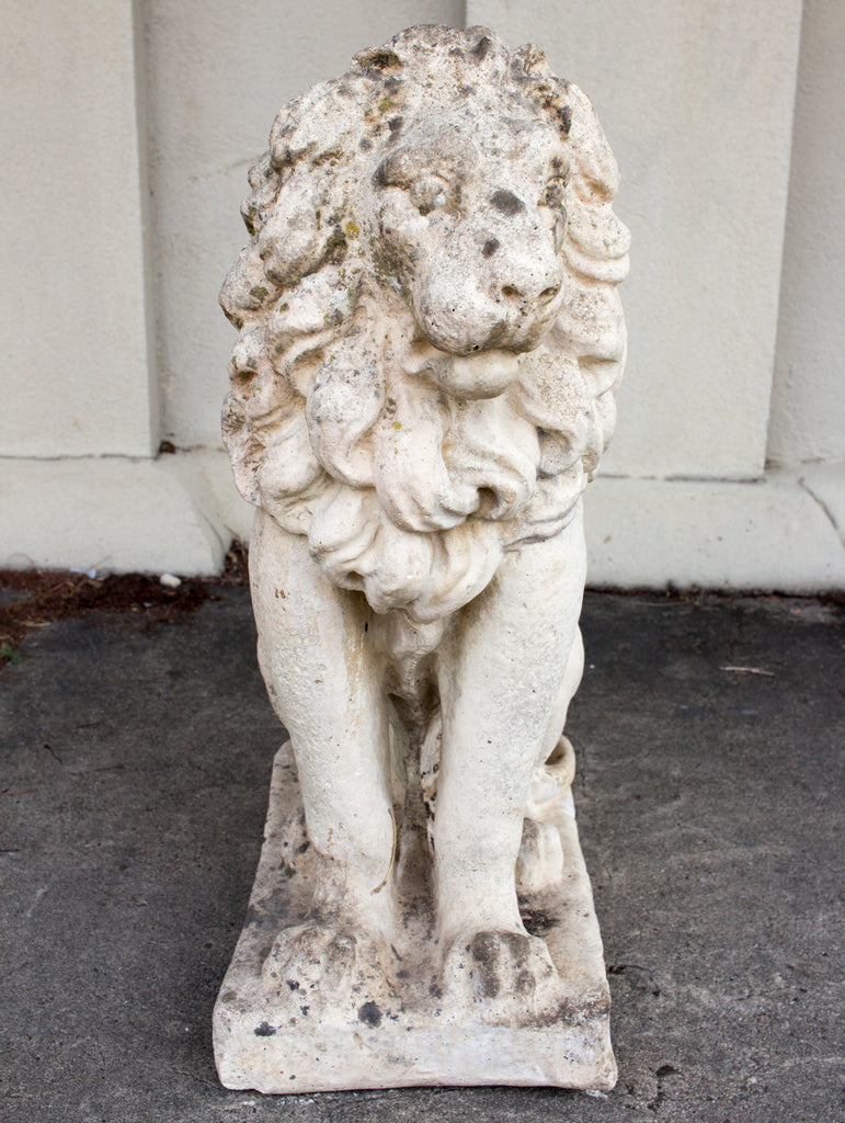 1920s Stone Lion Found in France (22-Inch)
