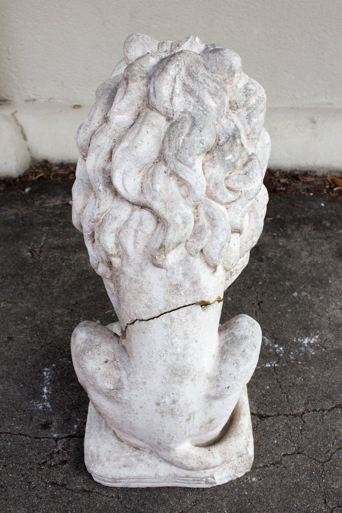 1920s Stone Lion Found in France (18-Inch)