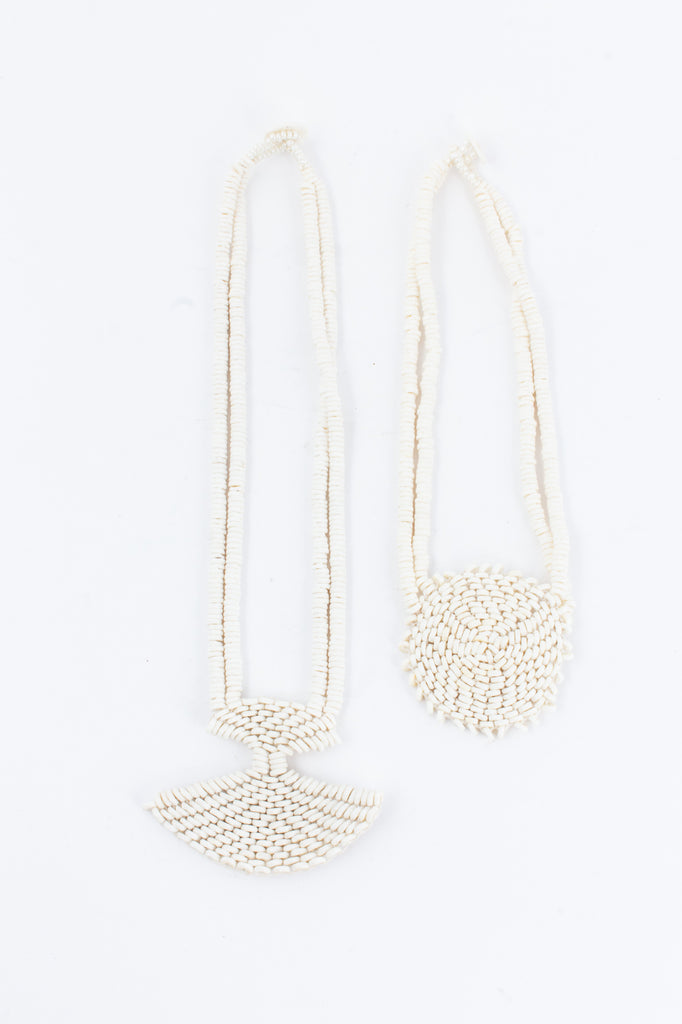 Handmade Ostrich Shell Necklaces from Namibia - Two Styles