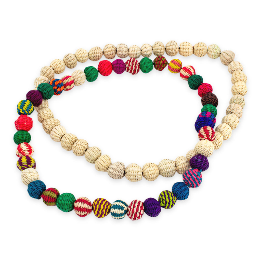 Handmade Basket Bead Necklaces from Columbia | Two Colors