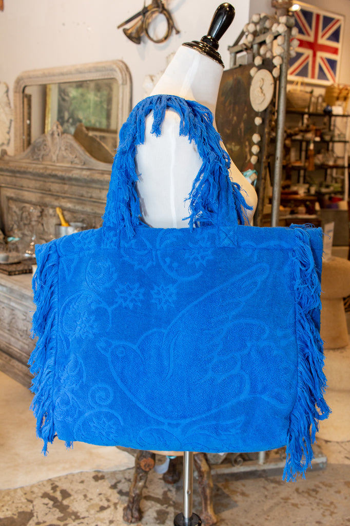 Lalla Hammam Towel Hippy Fringe Tote from Marrakech | More Colors Available