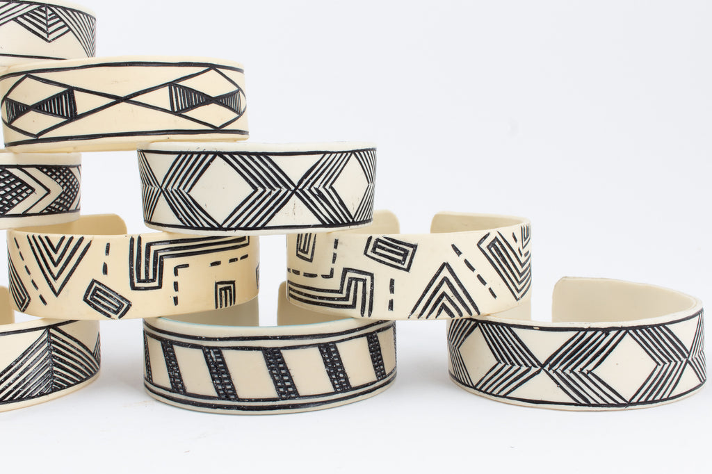 Handmade PVC Himba Bracelets from Namibia - Single Cuff