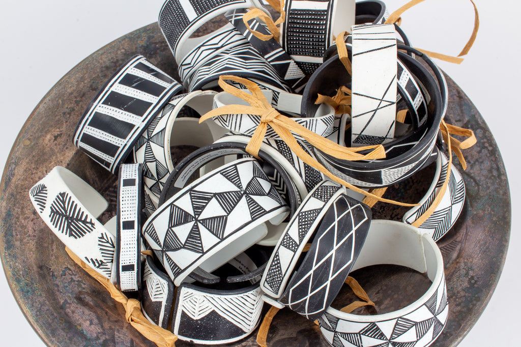 Handmade PVC Himba Bracelets from Namibia - Set of Three