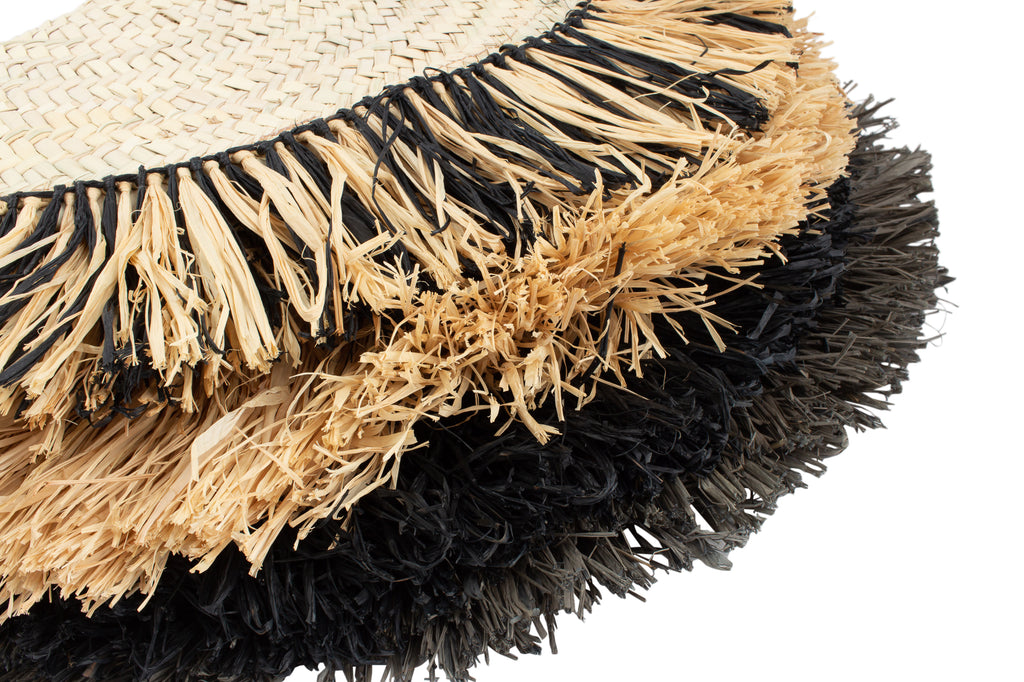 Raffia Fan Clutch - Handmade in Marrakech