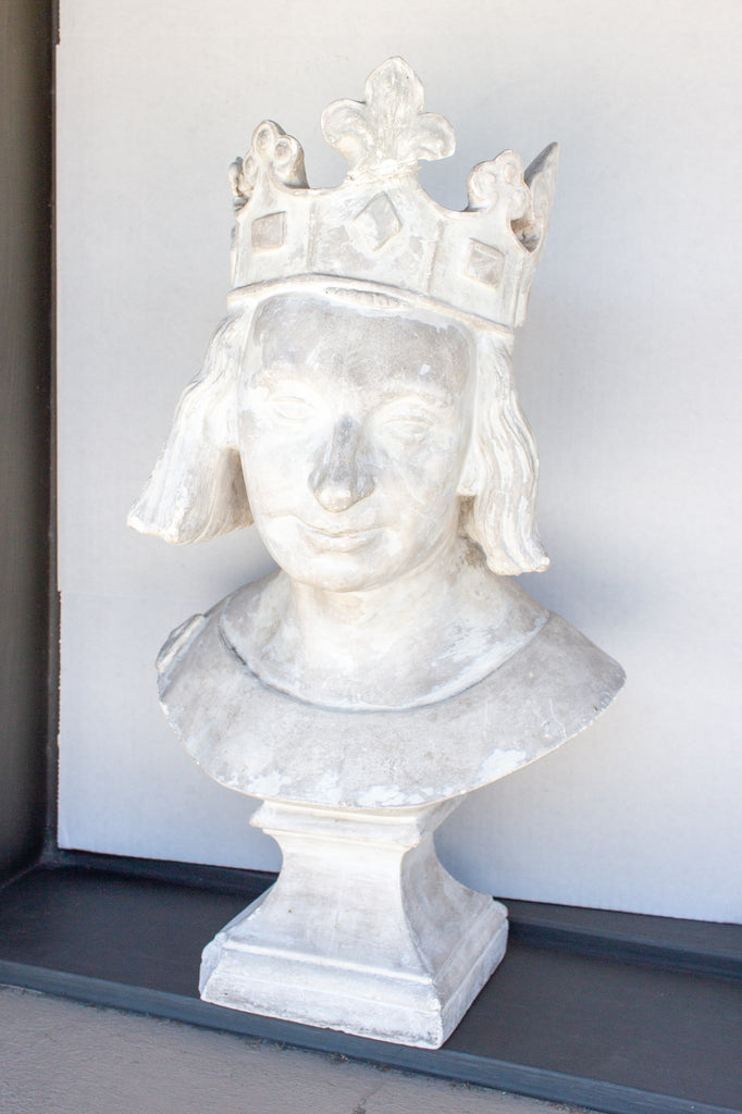 1920s Plaster Bust of King Philip IV of France