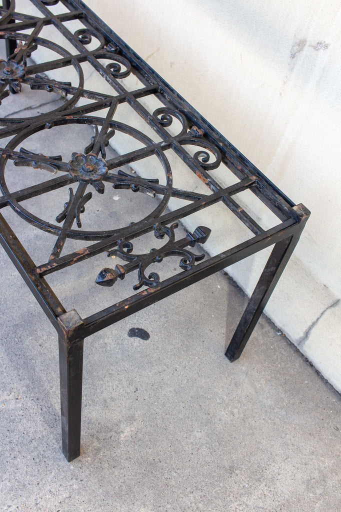 Antique French Iron Fragment Coffee and Cocktail Table