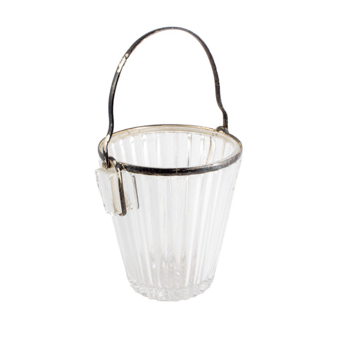 Vintage French Crystal & Silver Plate Ice Bucket