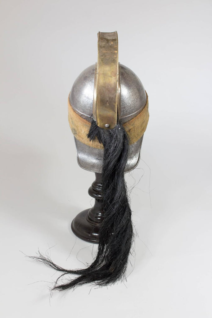 19th C. French Officer's Dragoon Helmet with Horse Hair Tail