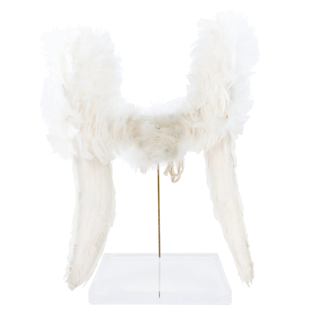 Antique French Angel Wings on Acrylic Base