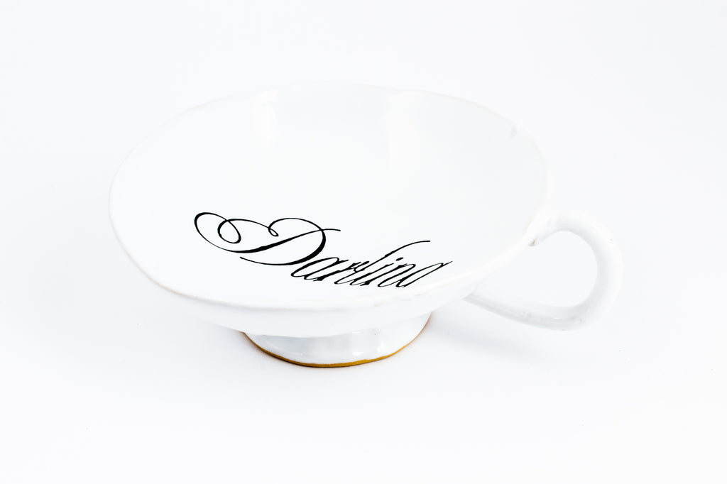 "Kuhn Keramik ""Darling"" Large Footed Teacup"