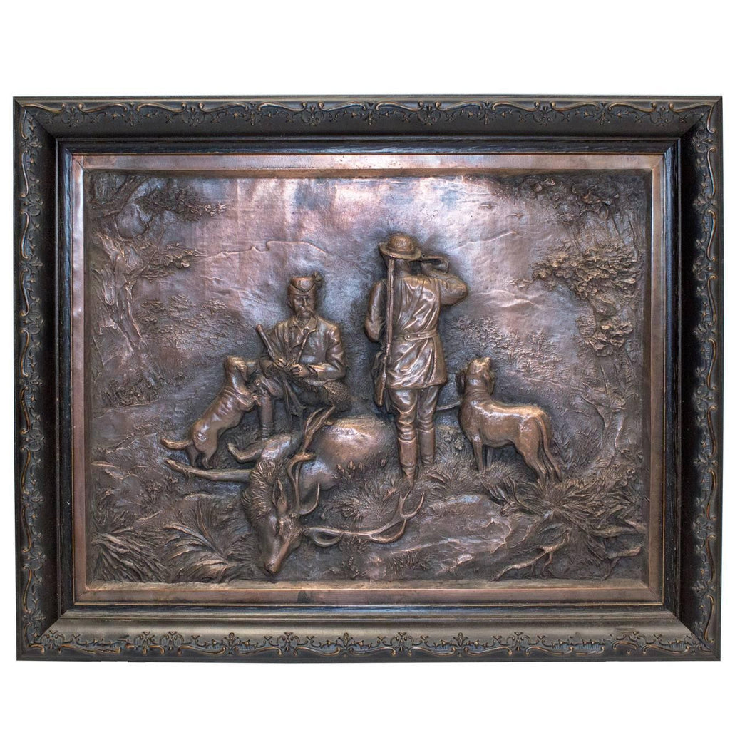 German Copper Jägermeister Bas Relief