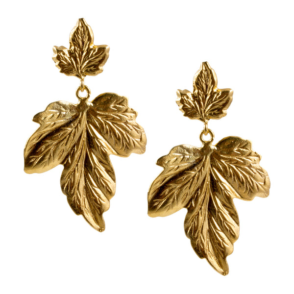 Turkish Delights Earrings: Grape Leaf Drops