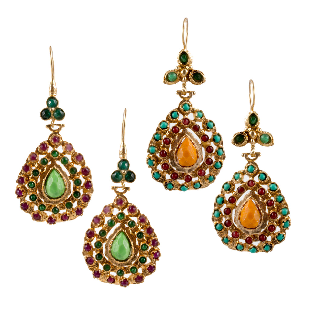 Turkish Delights Earrings: Colorful Teardrops (Two Colors)