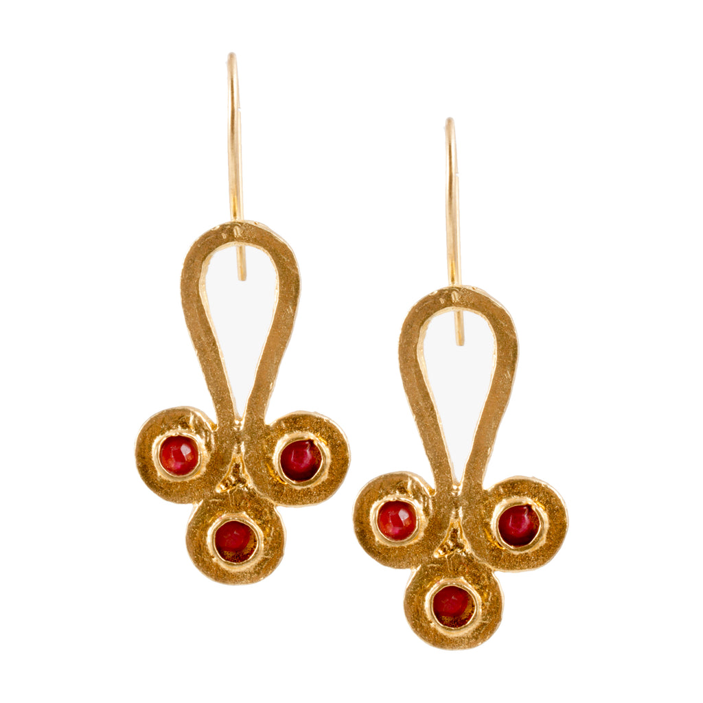 Turkish Delights Earrings: Byzantine Trio Drops (Two Colors)
