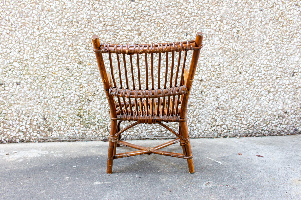 Vintage French Children's Rattan Chair