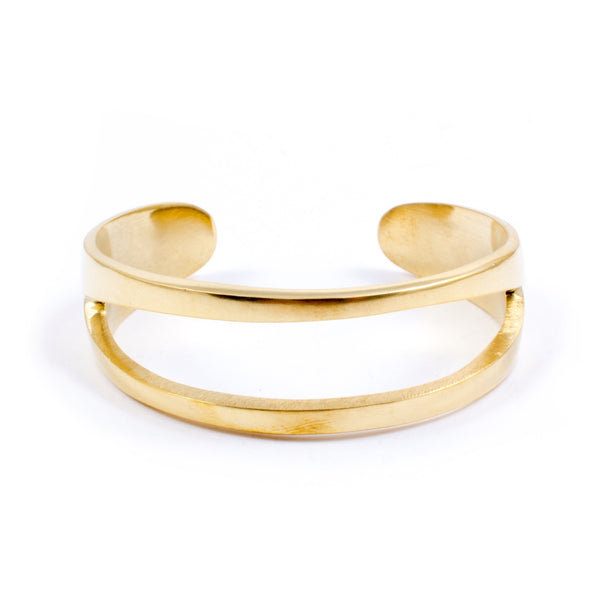 Cami Brass Bangle by Meyelo