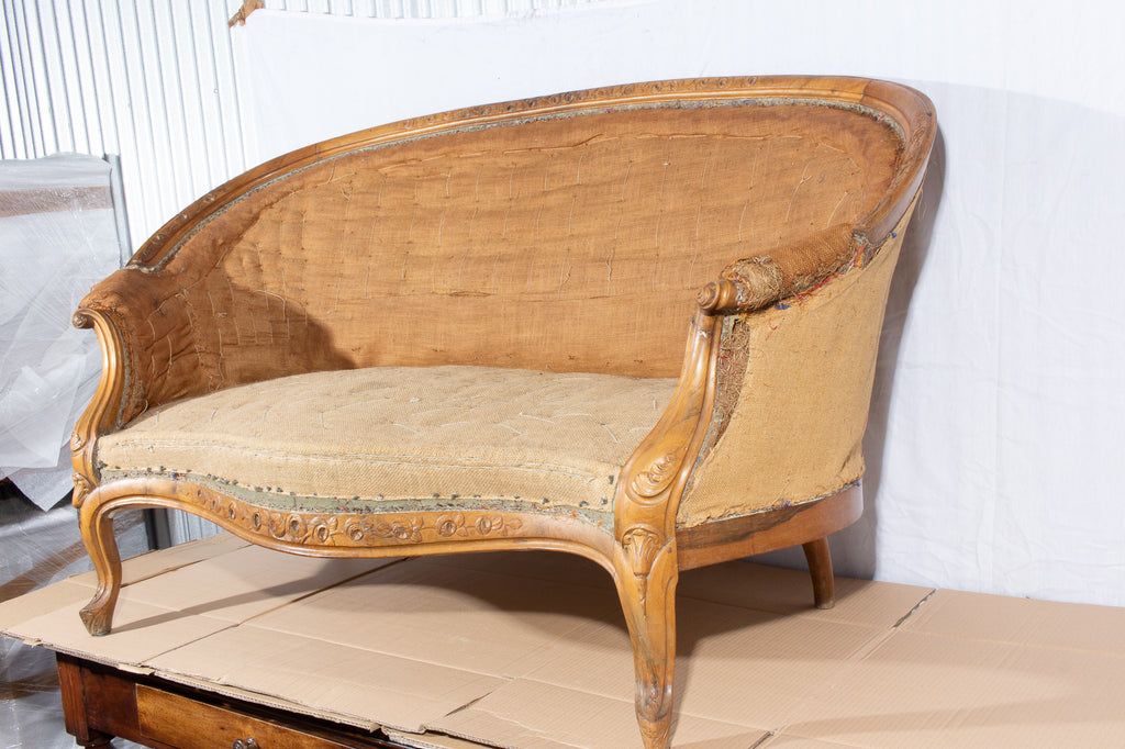 Antique French Louis Phillipe Canapé Banquet Sofa
