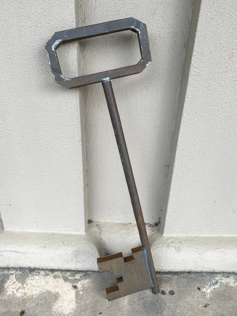 Oversized 1920s Metal Skeleton Key Decoration Found in France