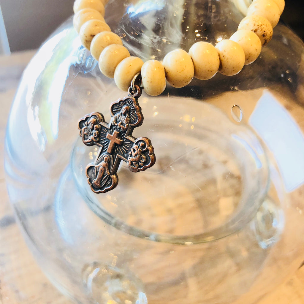Bone Bracelets with Vintage French Charm (More Styles Available)