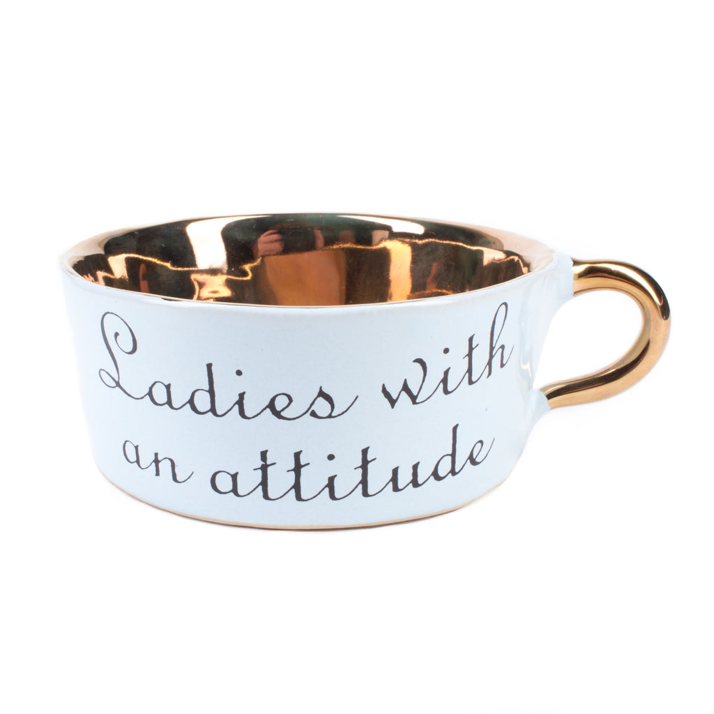 "Kuhn Keramik ""Ladies With an Attitude"" Glam Soup Mug"