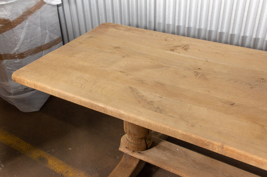 Antique Stripped French Oak Farm Table, circa 1900