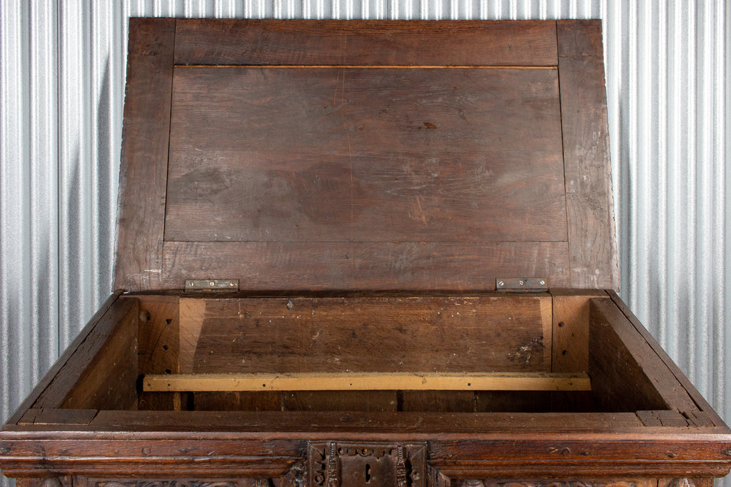 Early French Gothic Wood Trunk