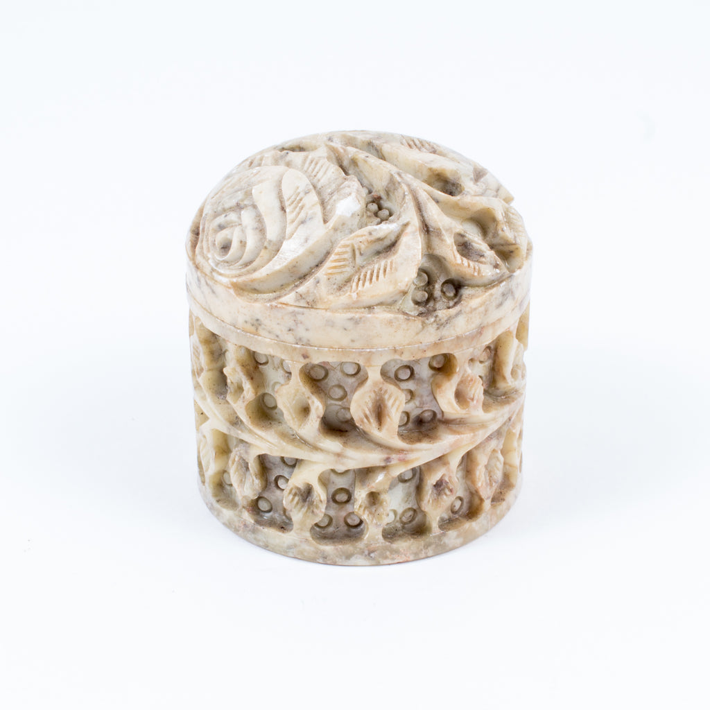 Vintage Carved Stone Trinket Box found in Paris, France