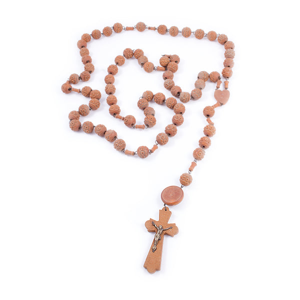Oversized Wood Souvenir Lourdes Rosary found in Paris