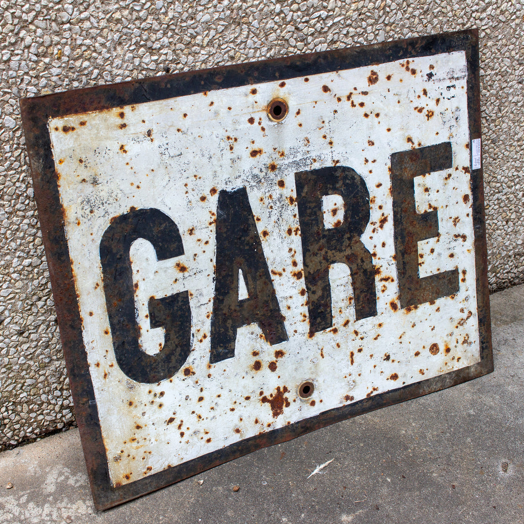 "Vintage French Metal ""Gare"" Train Station Sign"