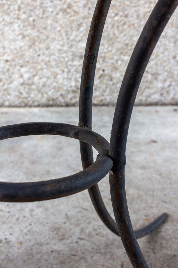 Antique French Metal Garden and Dining Table