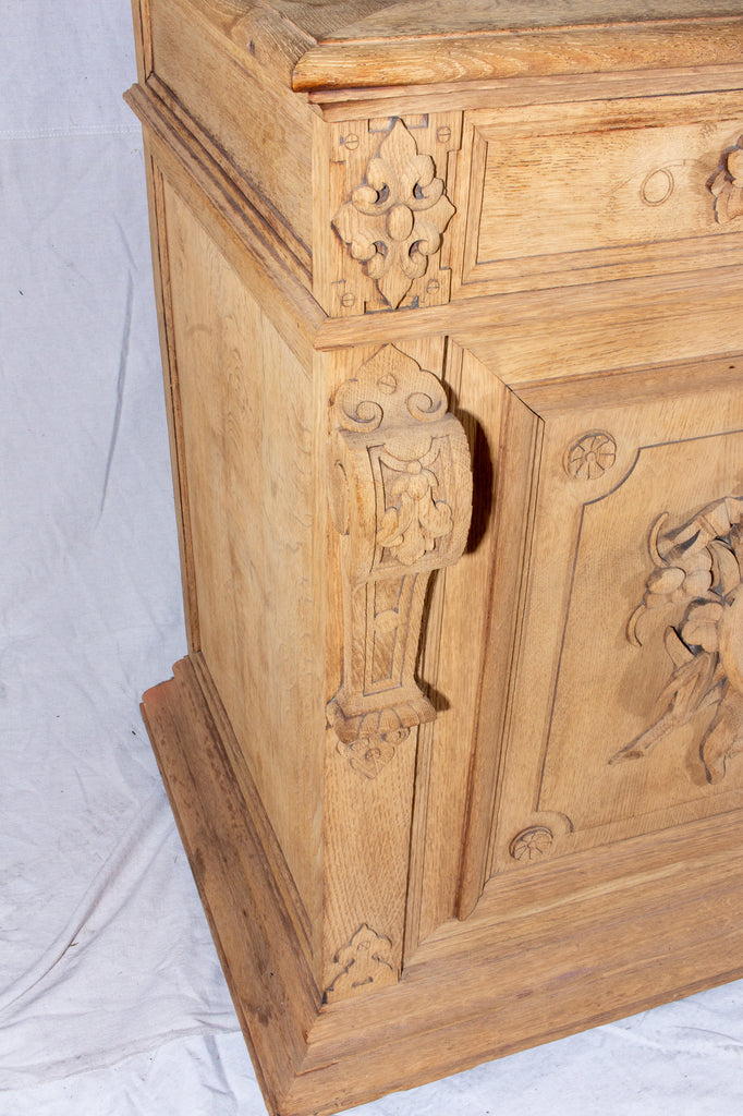 Antique Carved Wood Hunt Cabinet Found in France