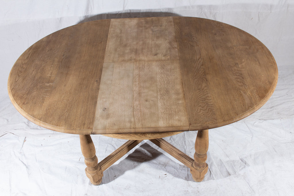 Vintage French Oak Butterfly Leaf Table