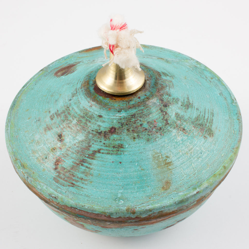 Handmade Copper Oil Lamp from Sri Lanka