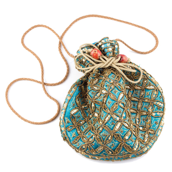 Silk Beaded Crossbody Bags from Singapore (Eight Colors)