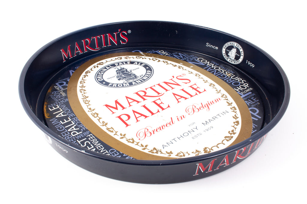 "Vintage Metal ""Martin's"" Bar Tray found in Belgium"