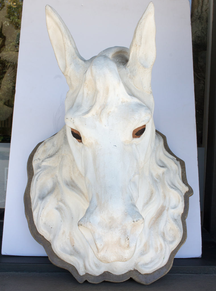 Rare 19th Century Zinc Horse Head Trade Sign Found in Paris, France