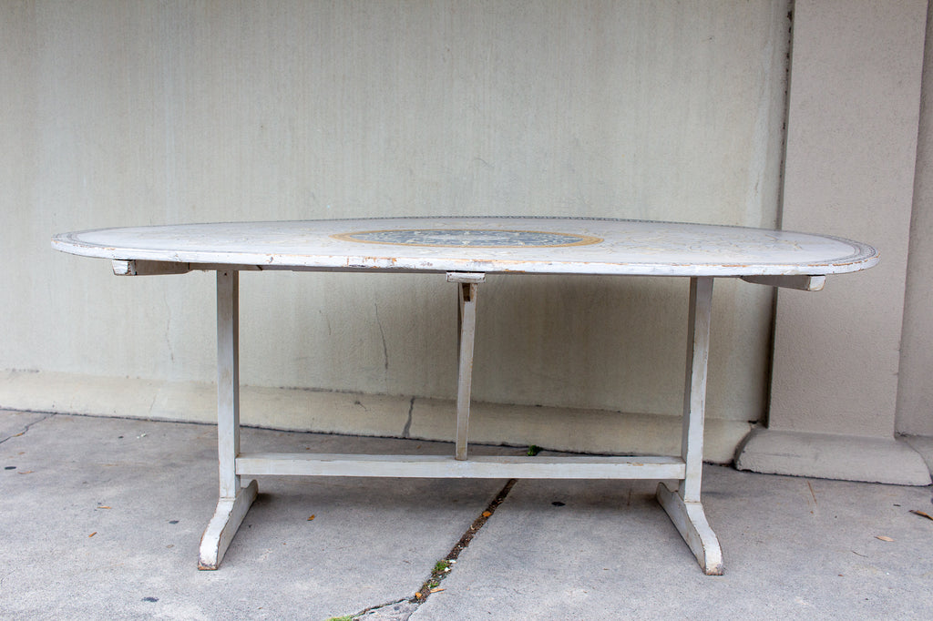Antique French Painted Wine Tasting and Dining Table