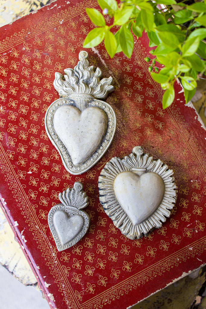 Cast Stone Sacred Hearts | Three Styles