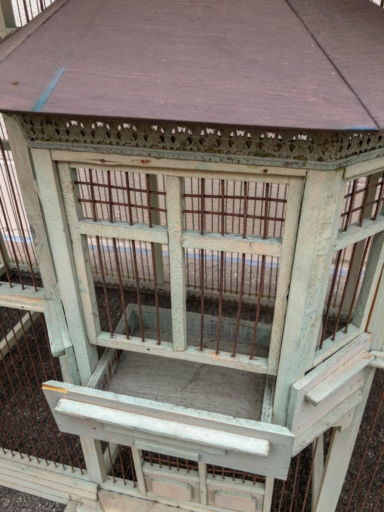 "Large Handmade Vintage French Dovecote Bird Cage ""With a Story"""