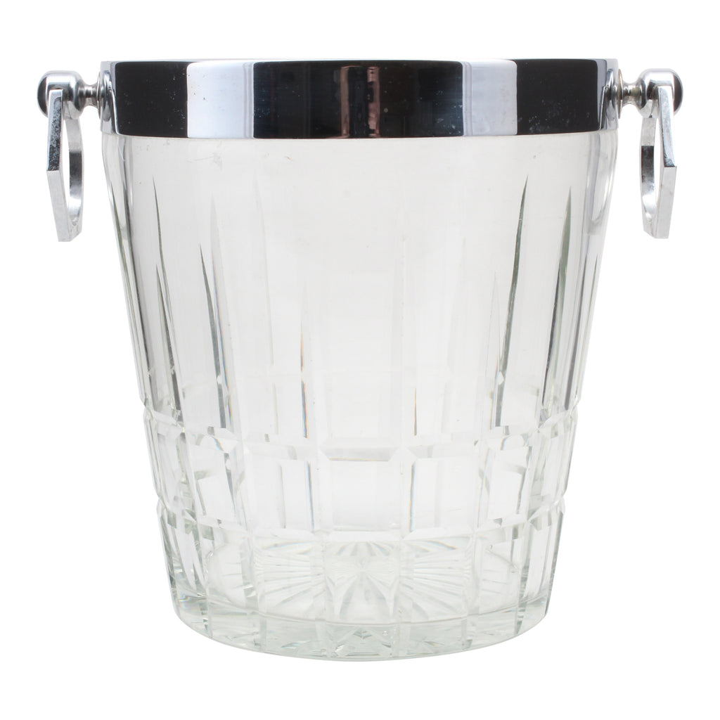Vintage French Cut Crystal Ice Bucket