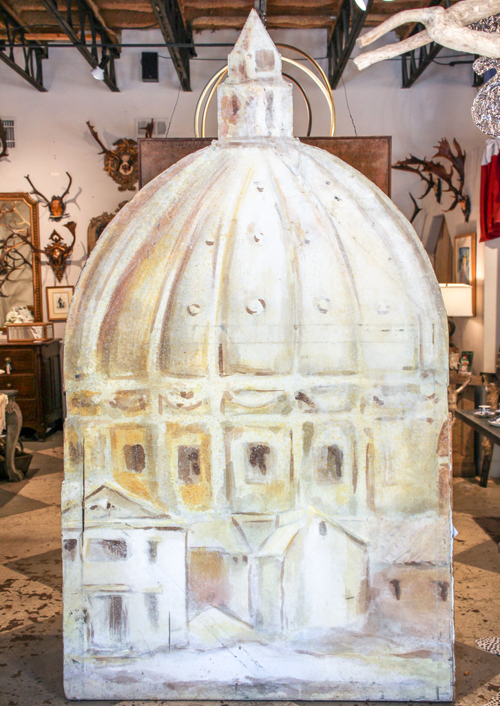 Vintage Canvas Stage Prop of St. Peter's Basilica from Houston Grand Opera