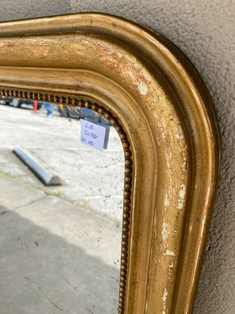 Antique French Distressed Gilt Louis Philippe Mirror