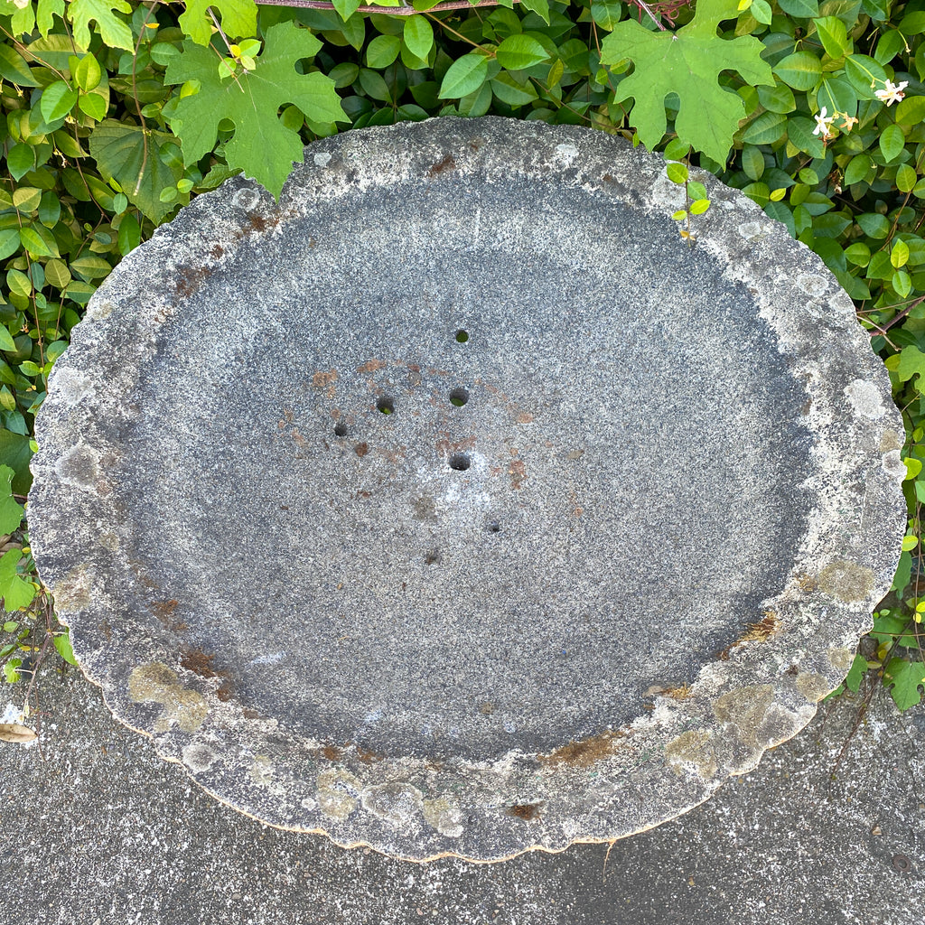 Antique French Stone Birdbath