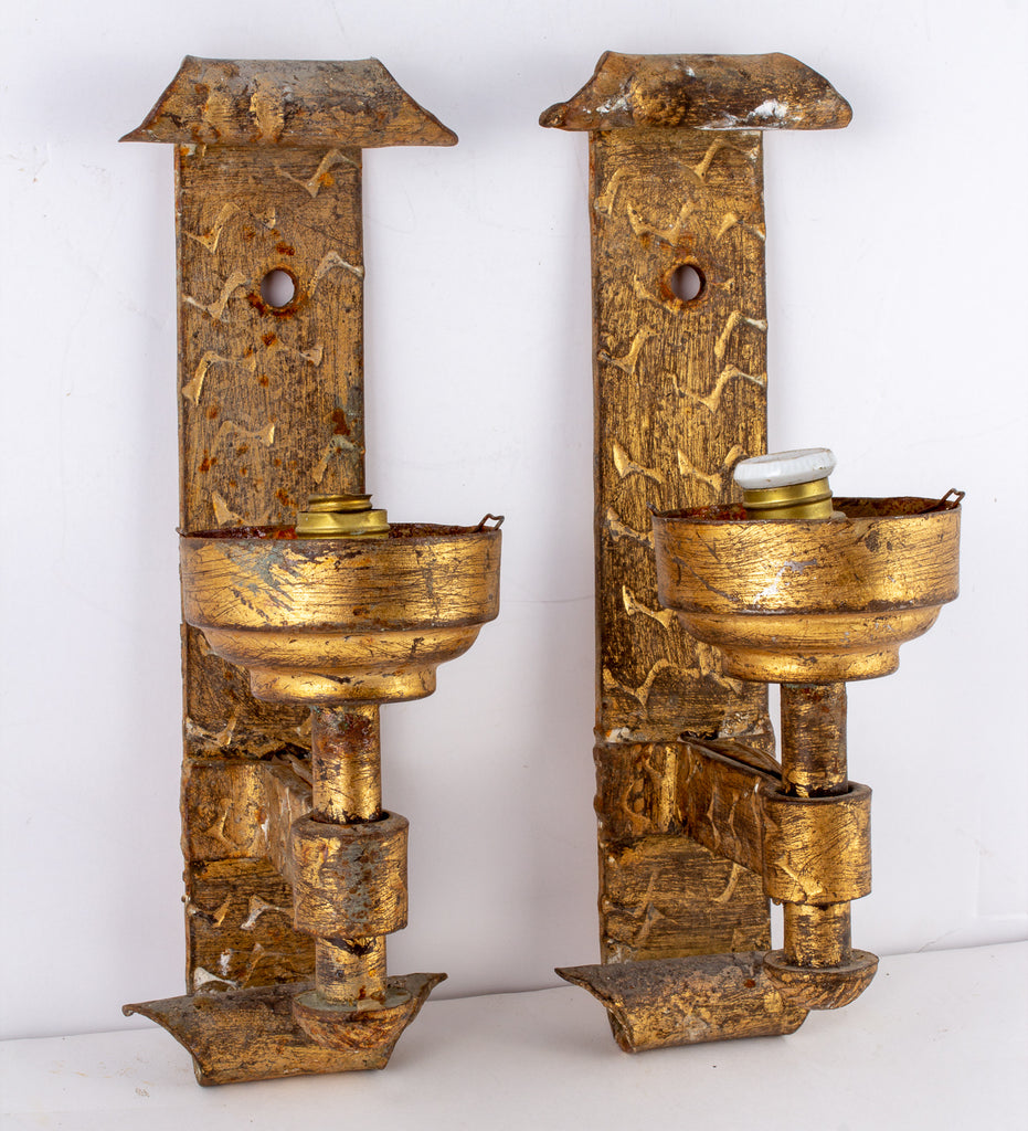 Antique Spanish Sconces from Barcelona - Single Arm Pair