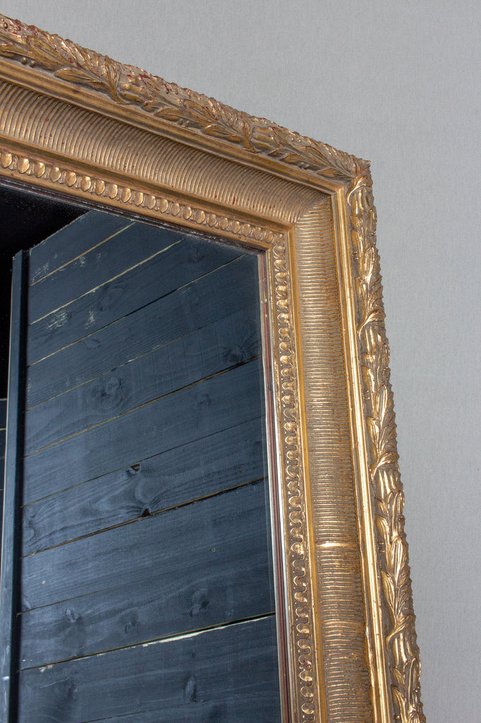 Large Antique French Gilt Frame Mirror