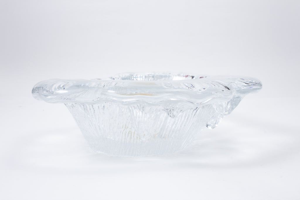 Vintage Crystal Abstract Candy Dish found in France